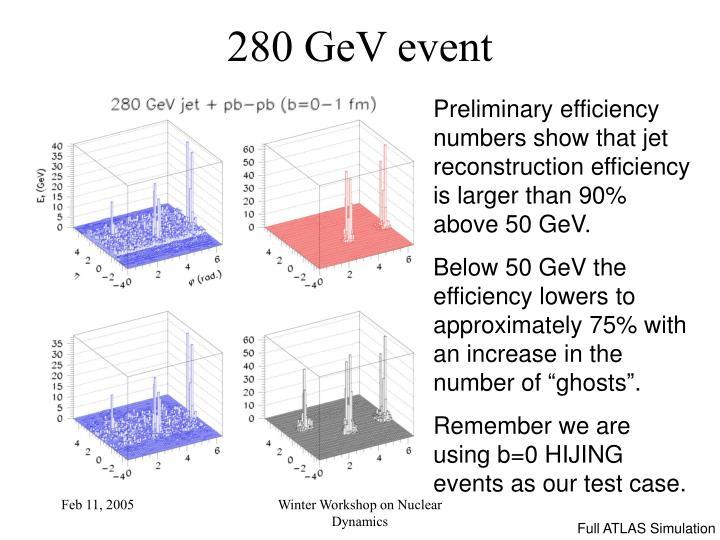 280 GeV event