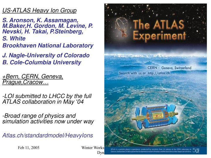 US-ATLAS Heavy Ion Group