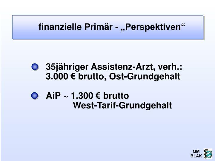 "finanzielle Primär - ""Perspektiven"""