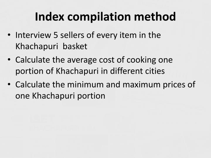 Index compilation method