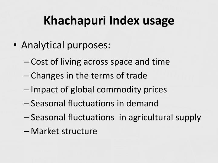 Khachapuri Index usage