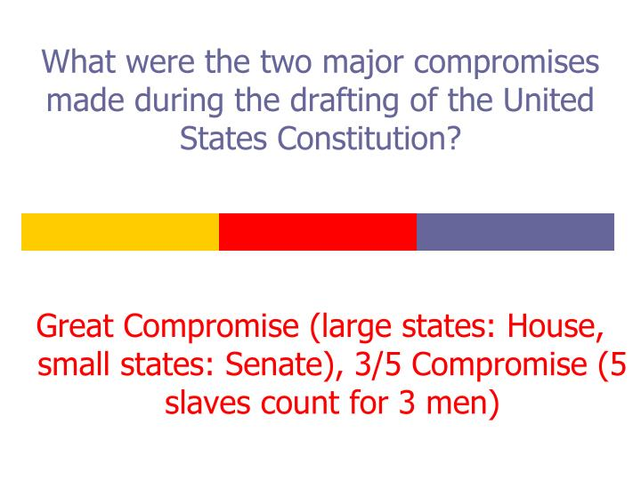 What were the two major compromises made during the drafting of the United States Constitution?