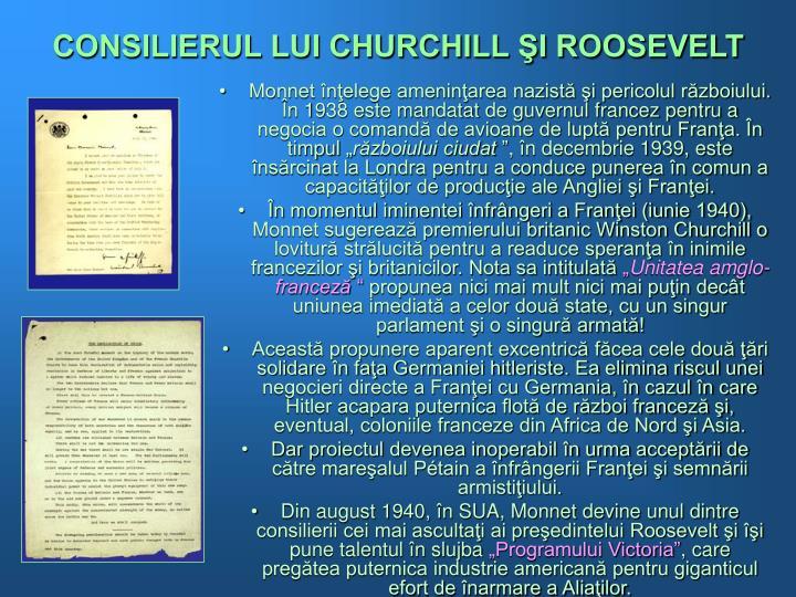 CONSILIERUL LUI CHURCHILL ŞI ROOSEVELT