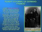 robert schuman un germano francez
