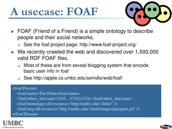 A usecase: FOAF