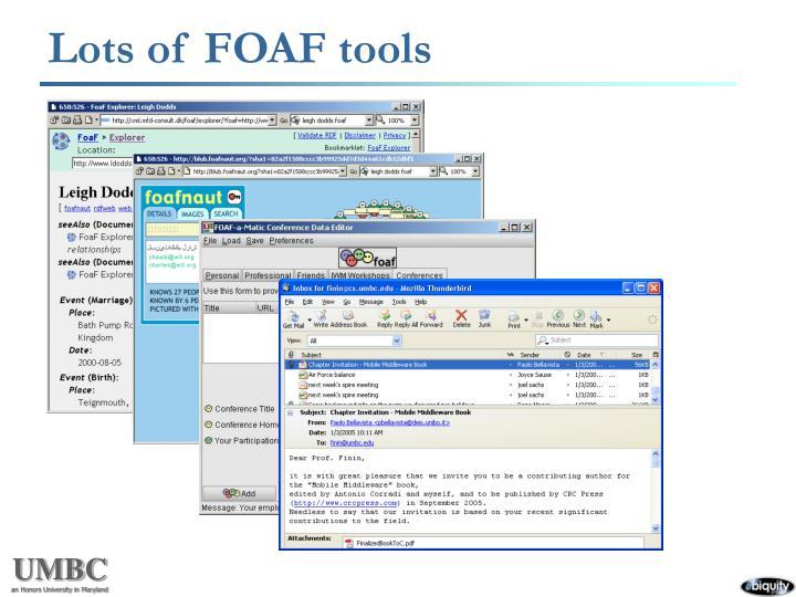 Lots of FOAF tools