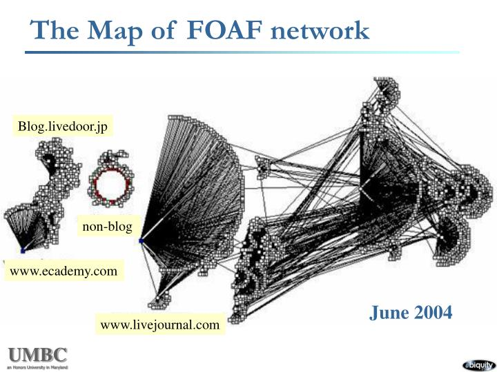 The Map of FOAF network