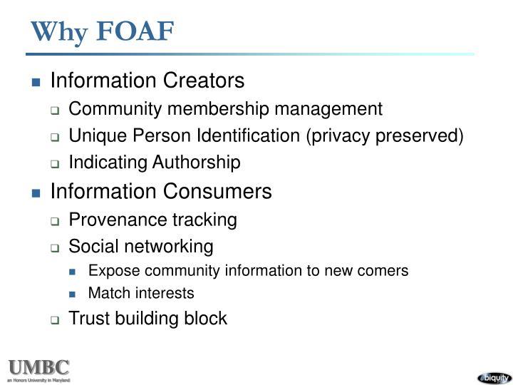 Why FOAF