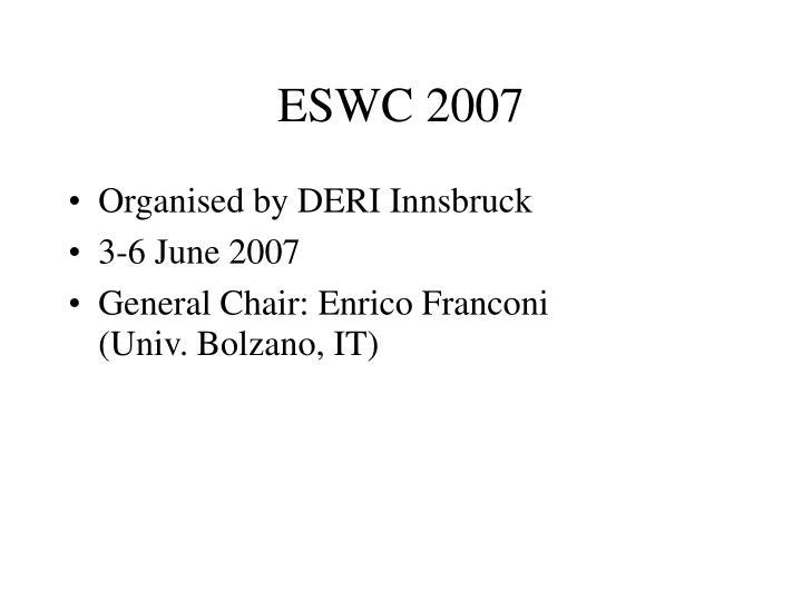 ESWC 2007