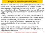 analysis of bond energies of 3 b 1 state