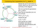 combining the 6 operations for c 3v leads to