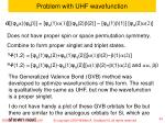problem with uhf wavefunction