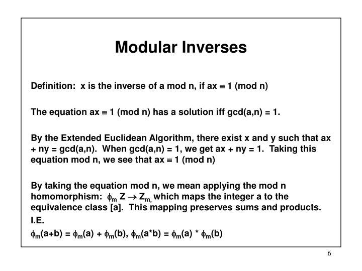 Modular Inverses