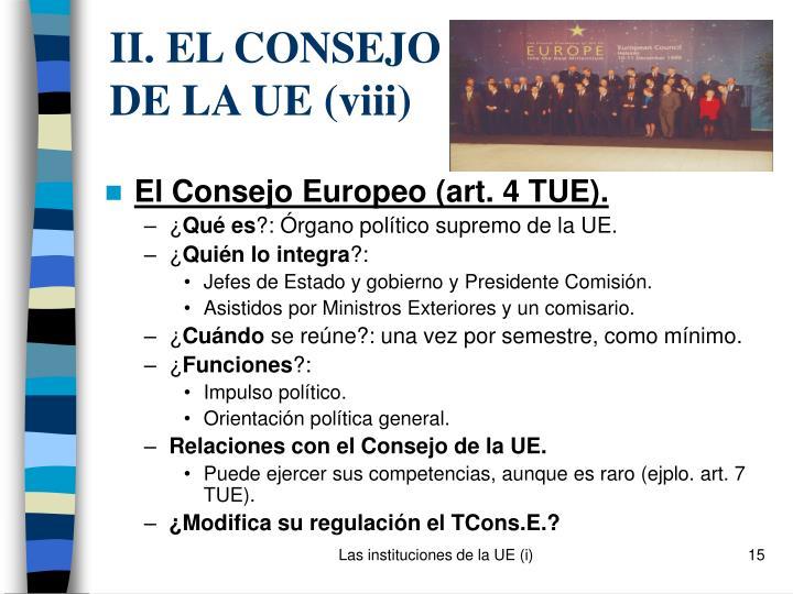 II. EL CONSEJO DE LA UE (