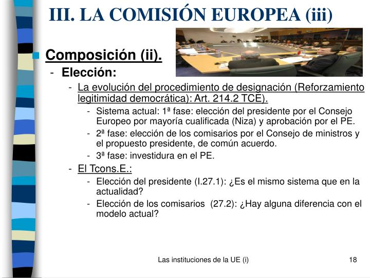 III. LA COMISIÓN EUROPEA (i