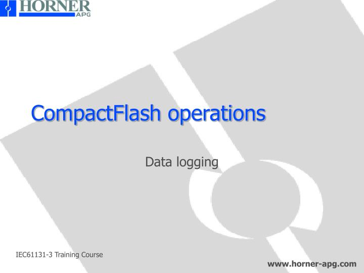 CompactFlash operations