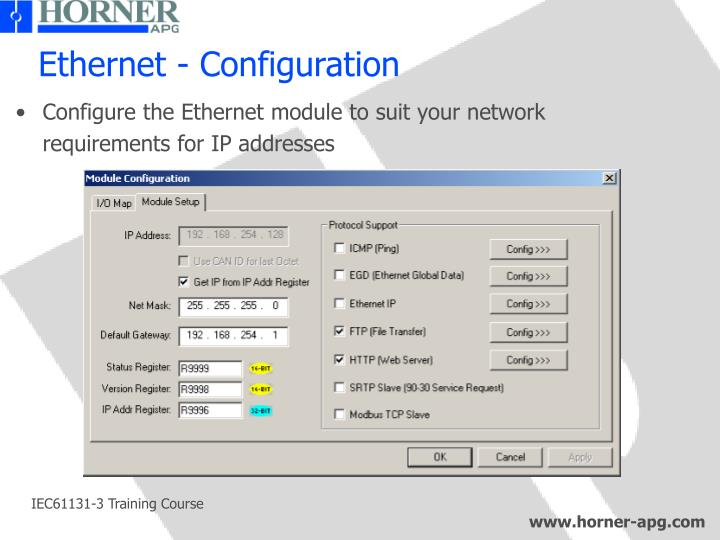 Ethernet - Configuration