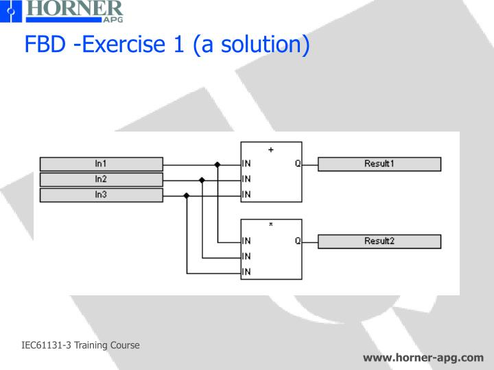 FBD -Exercise 1 (a solution)