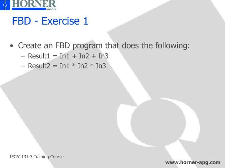 FBD - Exercise 1