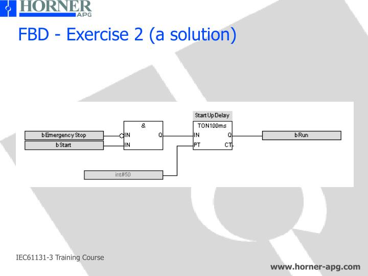 FBD - Exercise 2 (a solution)