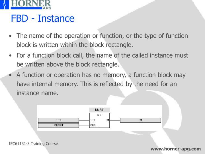FBD - Instance