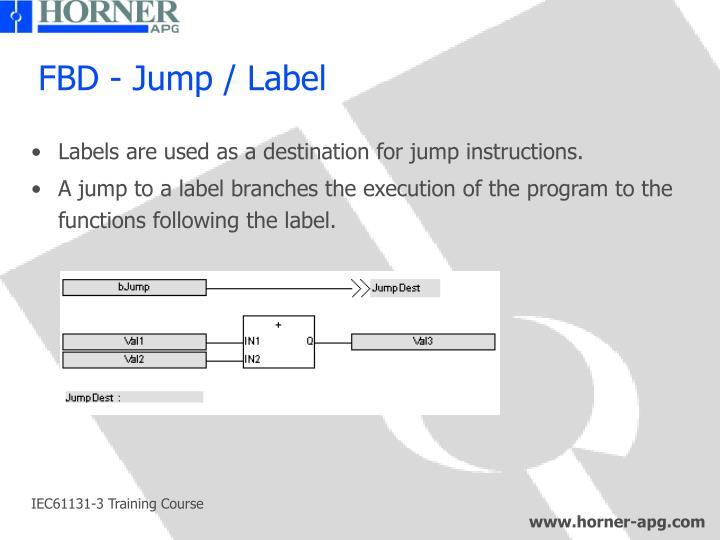 FBD - Jump / Label