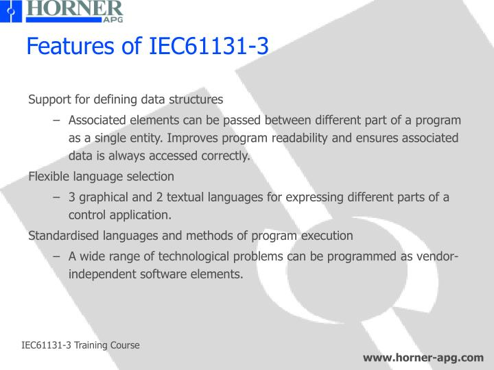 Features of IEC61131-3