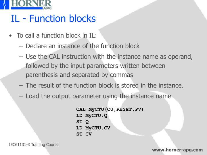 IL - Function blocks