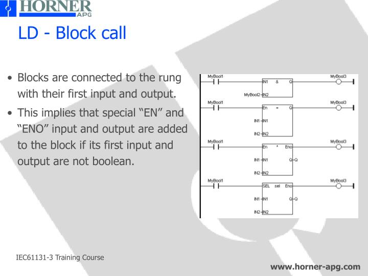 LD - Block call