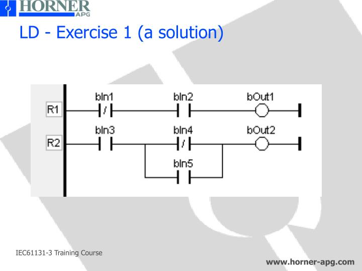 LD - Exercise 1 (a solution)
