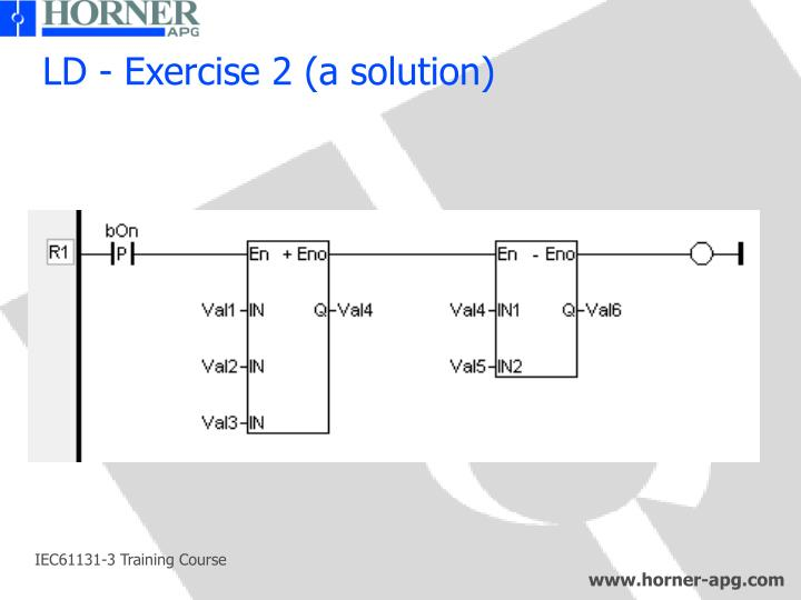 LD - Exercise 2 (a solution)