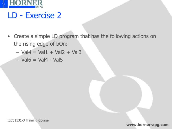 LD - Exercise 2