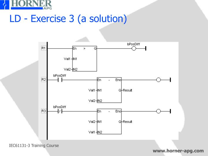 LD - Exercise 3 (a solution)