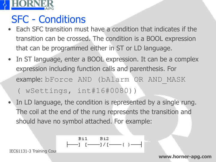 SFC - Conditions