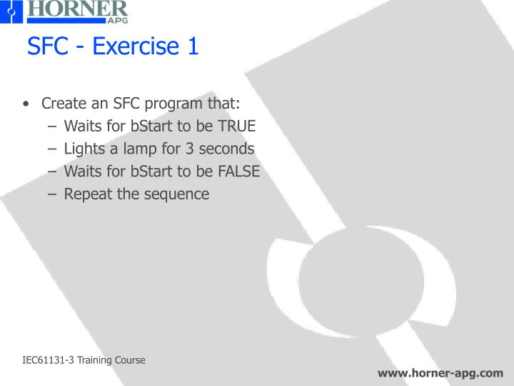 SFC - Exercise 1