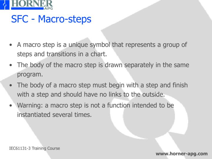 SFC - Macro-steps