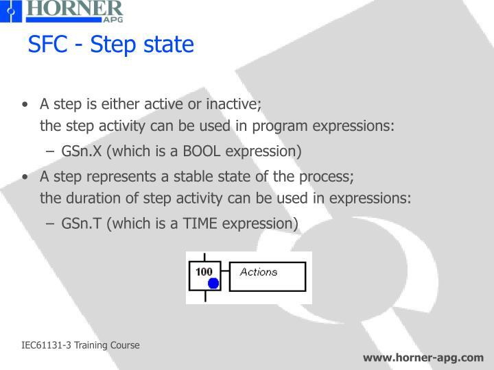 SFC - Step state