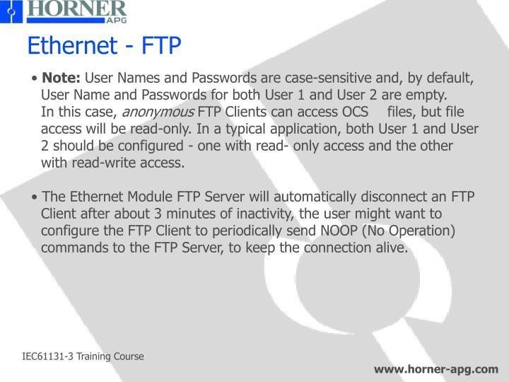 Ethernet - FTP