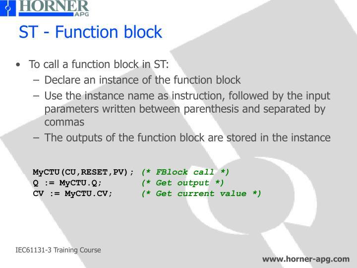 ST - Function block