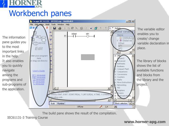 Workbench panes