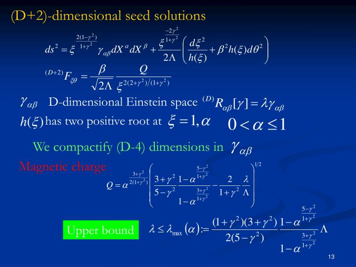 D-dimensional Einstein space