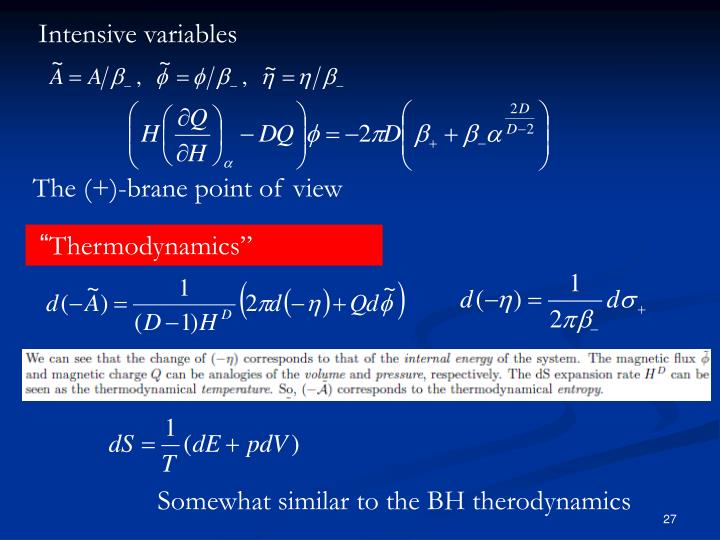 Intensive variables