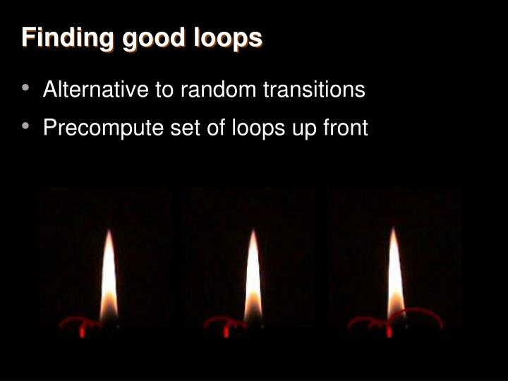 Finding good loops