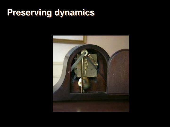 Preserving dynamics