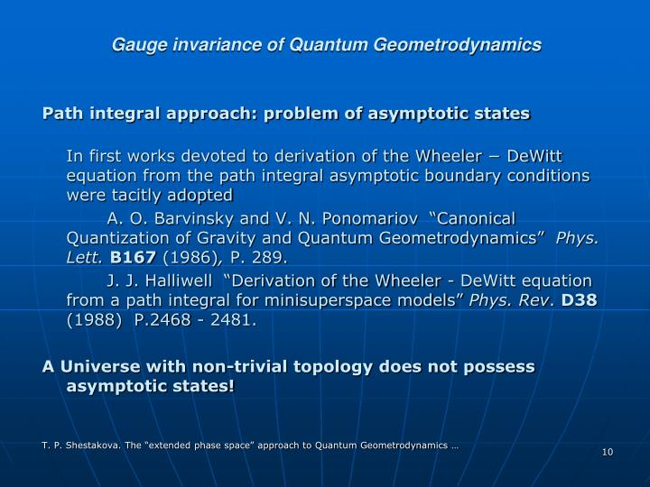 Gauge invariance of Quantum Geometrodynamics