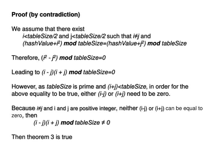Proof (by contradiction)