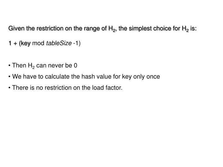 Given the restriction on the range of H