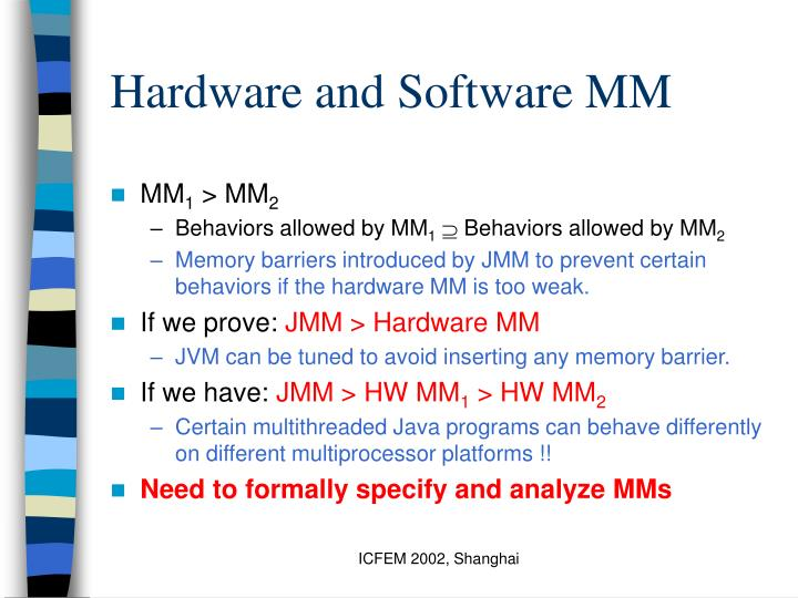 Hardware and Software MM