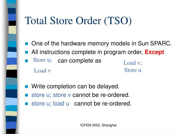 Total Store Order (TSO)