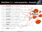 afterglow 1 x color properties example